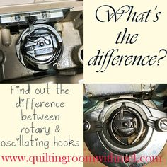 Find out the difference between rotary hook sewing machines and oscillating hook sewing machines.