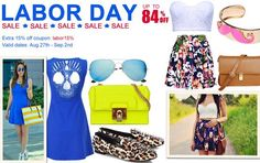 Hurry up dears! This time you can save up to 84% off from Romwe Labor Day sale! Just go to stock these awesome items to show yourself off! >>>> http://www.romwe.com/Labor-Day-Sale-c-290.html?wn (time from Aug 27th to Sep 2nd)