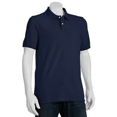 SONOMA life + style Solid Pique Polo