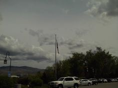 PT BOISE IDAHO. APR 15  US FLAG AT THE OLD TRAIN DEPOT.
