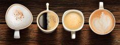 Array of Coffee Drinks Espresso Shot, Espresso Coffee, Hot Coffee, Coffee Break, Coffee Drinks, Café Theatre, Vanilla Iced Coffee, Fresh Coffee Beans, Quart Mason Jars