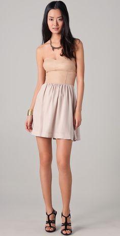Lil Bit Leather Strapless Dress By Rebecca Taylor - Shopbop