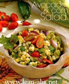 Sweet corn is the star of this Avocado Corn Salad Recipe.data-pin-do= Corn Salad Recipes, Corn Salads, Easy Summer Meals, Summer Recipes, Quick Meals, Suddenly Salad, Corn Avocado Salad, How To Make Salad, Soup And Salad