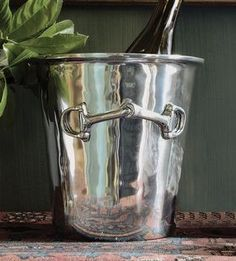 Snaffle Bit Equestrian Wine Bucket Wine Accessories - Wine Accessories - By Beatrice Ball Metalware #6804 at Horse and Hound Gallery #winebucket