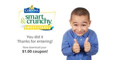 Sign up for your sweepstakes entry | Gorton's Smart & Crunchy http://shar.es/1fxro3 via @sharethis