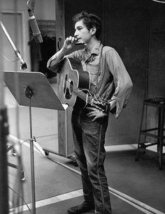 Bob Dylan in Columbia Studio A, 1963...