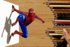 3D Pencil Drawing: Spider-Man Speed Draw | Jasmina Susak How to Draw Mar...