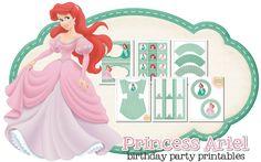 Imprimible gratis de Ariel - Decoración para fiestas de princesas | DEF Deco - Decorar en familia