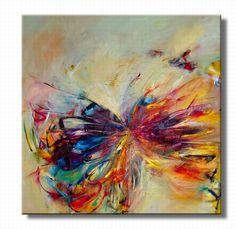 abstract vlinderschilderij, schilderij abstracte vlinder
