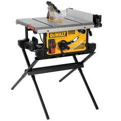 """Dewalt DWE7490X, 10"""" Job Site Table saw with Scissor Stand https://cf-t.com/dewalt-dwe7490x-10-job-site-table-saw-with-scissor-stand-2"""