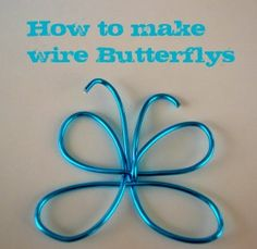 How to Make Wire Butterflies for Wood Crafts @tilly Badham
