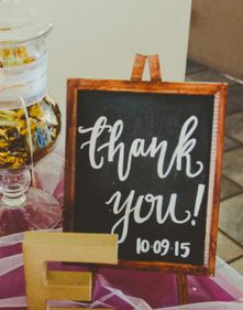 Creative Flow Co. Custom Calligraphy Wooden Thank You Sign