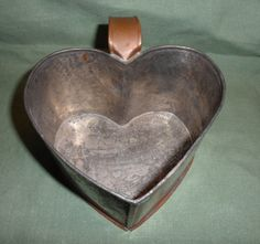 Handcrafted Copper Handled Heart Mug Cup- Signed MRB '88 Michael Bonne