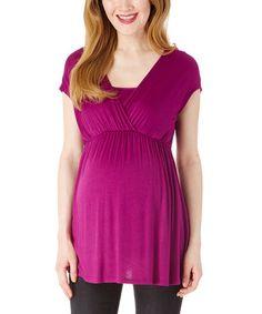 Love this Purple Maternity Surplice Top on #zulily! #zulilyfinds