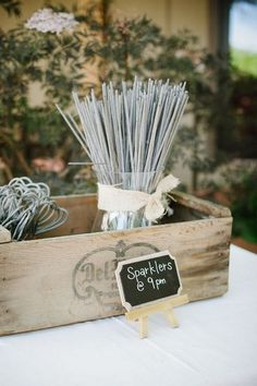 If you're planning a sparkler send-off, be sure to let your photographer, and your guests know in advance. Sometimes you just have to organize the fun! Sparkler cards, with a couple of sparklers in them, make great favors, as well as letting the party know what time to light them up. If you don't haveRead more