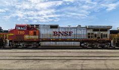 https://flic.kr/p/zaL4J5 | War Bonnet Paint Scheme-BNSF | BNSF No. 780 locomotive parked in yard in Oklahoma City.