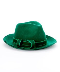 Another great find on #zulily! Green Tie Wool Fedora by Jeanne Simmons Accessories #zulilyfinds