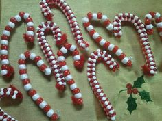 Free Preschool Christmas Crafts | My daughter likes to make candy cane ornaments using red and white ...