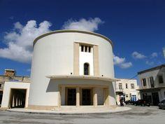 Italian Rationalism in island Leros.Greece. Cinema