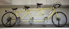 "Bill Bliss Triple - This ""triple tandem"" bicycle was ridden by Bill Bliss and his two daughters (ages seven and eight) across America during the 1976 Bikecentennial event. (Bikecentennial '76 is now known as Adventure Cycling Association). #bikecentennial"