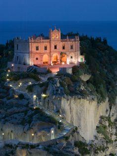 Santa Maria dell'Isola Church, Tropea, Calabria, Italy Photographic Print by Walter Bibikow at Art.com