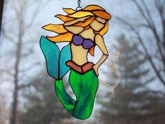 Alluring Mermaid Suncatcher by BeardedVikingGlass on Etsy