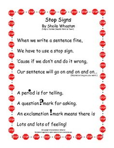 Punctuation Game and Song