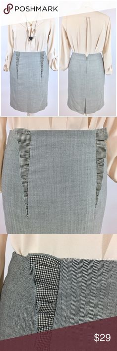 Anthropologie Girls From Savoy Grey Pencil Skirt Up for sale in excellent preowned condition Pencil Skirt from Anthropologie, size 4, dry cleaned and ready for new home. Check out my closet, bundle and give me your offer! Anthropologie Skirts Pencil