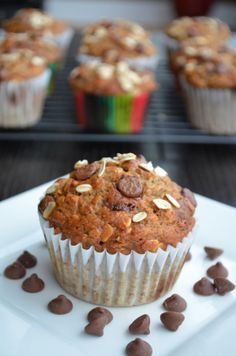 Banana Chocolate Oat Muffins