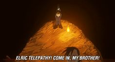 ELRIC TELEPATHY! - this scene made me die laughing.  I had to pause the episode and back up.  XD