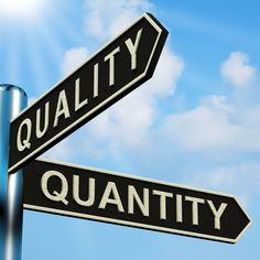 quality over quantity - Google Search