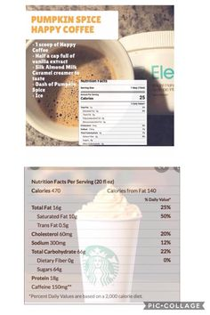 Starbucks Pumpkin Spice Latte 😲   Can I just take a second to tell you how bad these things are for you!!TONS of calories and TONS of sugar!!! Here is the healthy and tasty equivalent which in my opinion tastes even better!!  Oh did I mention my Happycoffee gives you more energy, suppresses your appetite, relieves anxiety, curbs cravings for sugar and carbs, places your hormones back in balance, happier mood, relieves hot flashes and more......  No brainer! Pumpkin Facts, Silk Almond Milk, Starbucks Pumpkin Spice Latte, Happy Coffee, Hot Flashes, Serving Size, Cravings, Anxiety, Caramel
