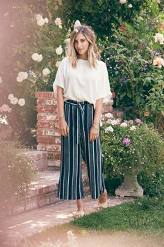 How to Style Striped, Cropped, Wide-Legged Pants - Cupcakes