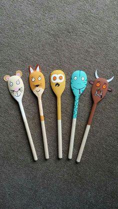 Gruffalo spoon Source by gnctheone Gruffalo Activities, Gruffalo Party, The Gruffalo, Toddler Activities, Activities For Kids, Diy For Kids, Crafts For Kids, Story Sack, Finger Plays