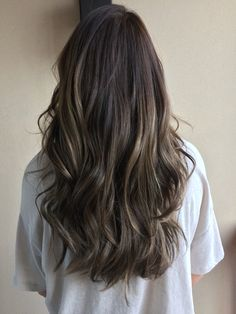 Dark ombré with ash highlights More