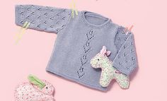 Book Baby 76 Spring / Summer | 14: Baby Sweater | Blue