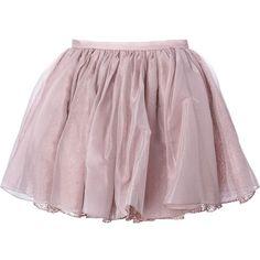 Olympia Le-Tan Tutu Skirt ($1,563) ❤ liked on Polyvore featuring skirts, olympia le-tan, purple tutu, silk skirt, purple tutu skirt and purple skirt