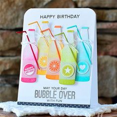 Laina Lamb Design Soda Pop stamp set and Soda Pop Bottles Die-namics - Amy Sheffer #mftstamps