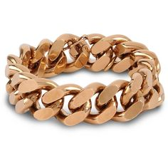 Stella McCartney Chain Bracelet ($370) ❤ liked on Polyvore featuring jewelry, bracelets, accessories, gold, stella mccartney jewelry, chain jewellery, stella mccartney and chains jewelry