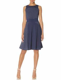 Polka Dot A-Line Dress from THELIMITED.com..cute for work