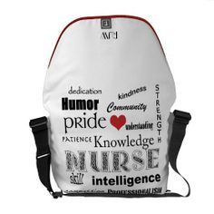 Shop Nurse Pride-Attributes/Red Heart+Initials Messenger Bag created by avisnoelledesigns. I Love Fashion, Fashion Bags, Fashion Ideas, Best Messenger, Messenger Bags, Love To Shop, My Love, Nurse Bag, Commuter Bag