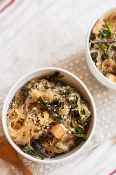 Asian Glass Noodles with Tofu and Wild Greens | These 26 Recipes Will Make You Fall In Love With Kale