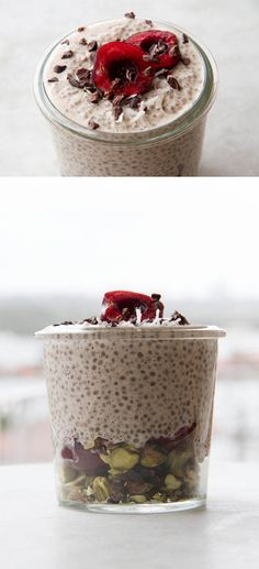 Sweet Cherry Chia Breakfast Jar, for smooth energy all morning