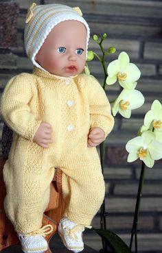 ... красивая кукла-вязание моделей-ребенок-Аннабель-желто-куклы-одежды
