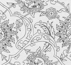 . Border Pattern, Pattern Art, Interesting Drawings, Islamic Art Pattern, Turkish Art, Illustrations, Calligraphy Art, Tile Art, Textile Design
