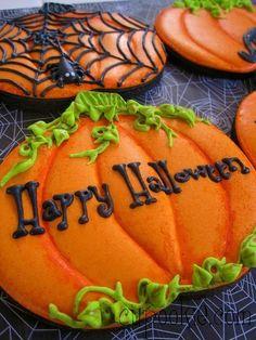 Halloween Pumpkin Cookies, Halloween Sweets, Halloween Goodies, Halloween Food For Party, Halloween Cakes, Halloween Boo, Holidays Halloween, Happy Halloween, Halloween Pumpkins