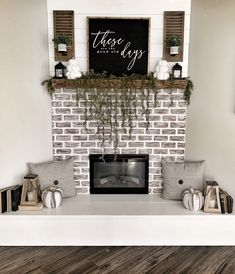 Wonderful Free Farmhouse Fireplace fall Tips Wanting to discover how to buy some. Wonderful Free Farmhouse Fireplace fall Tips Wanting to discover how to buy some new fireplace so that you can obtain th. Fall Fireplace Decor, Farmhouse Fireplace, Fall Decor, Fireplace Decorations, Fireplace Ideas, Mantle Ideas, Fireplace Hearth, Country Farmhouse Decor, Farmhouse Style Decorating