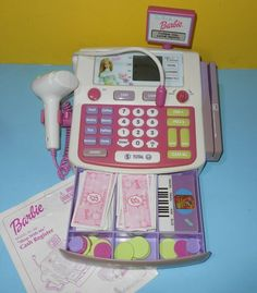 Barbie Shop, The Jetsons, Cash Register, New Dolls, Baby Safety, Twinkle Lights, Christmas Toys, Office Phone, My Childhood