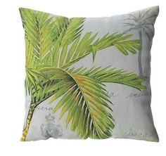 Indoor or Outdoor Palm Print Pillow