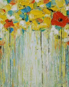 Aceite la pintura amarillo pintura pintura al óleo pintura